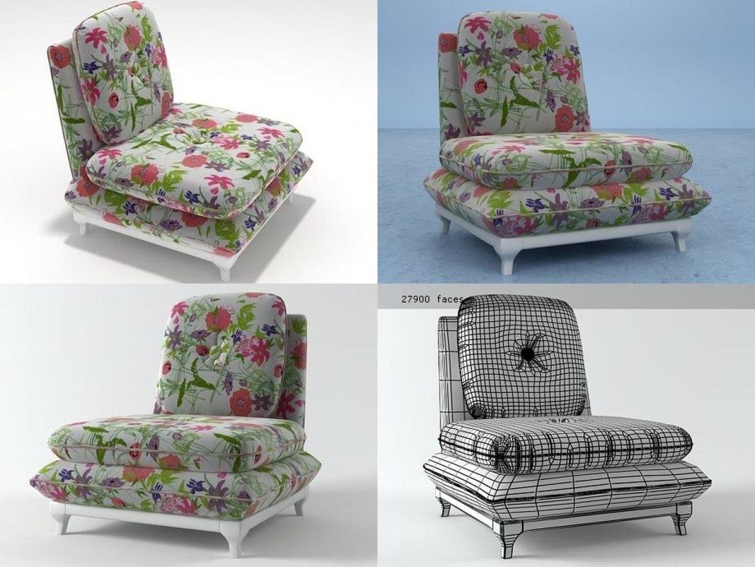 slipper chair model