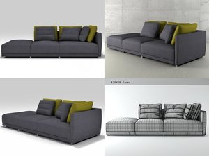 sketch large corner sofa 3D model