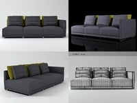 3D sketch 1-arm sofa