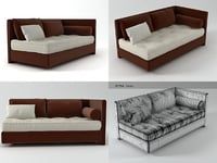3D nomade left-arm loveseat model