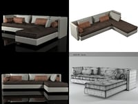 3D model nomade convertible sofa