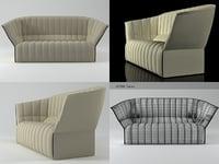 3D moël large settee model
