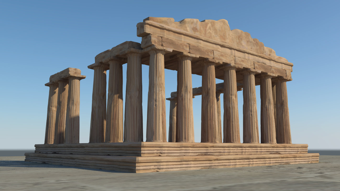 3D model parthenon