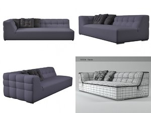 3D malhoun large 1-arm settee