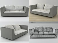 3D feng medium settee