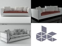 feng large settee 3D
