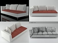 3D feng large 1-arm settee model