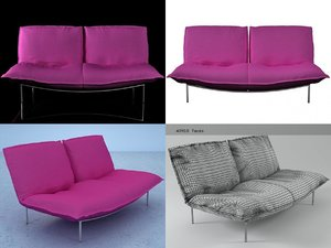 calin loveseat 3D model