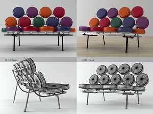 3D marshmallow sofa