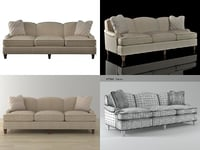 classic english sofa 6511-92 3D model