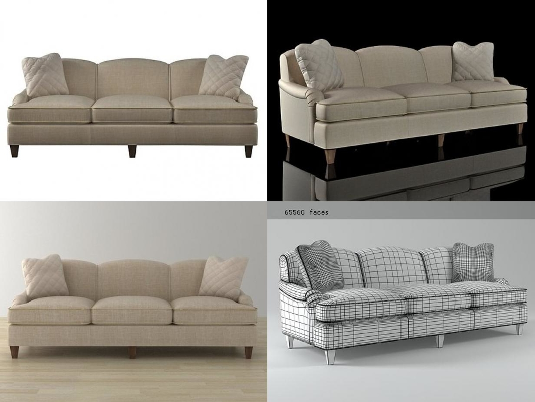 classic english sofa 6511-92 3D model