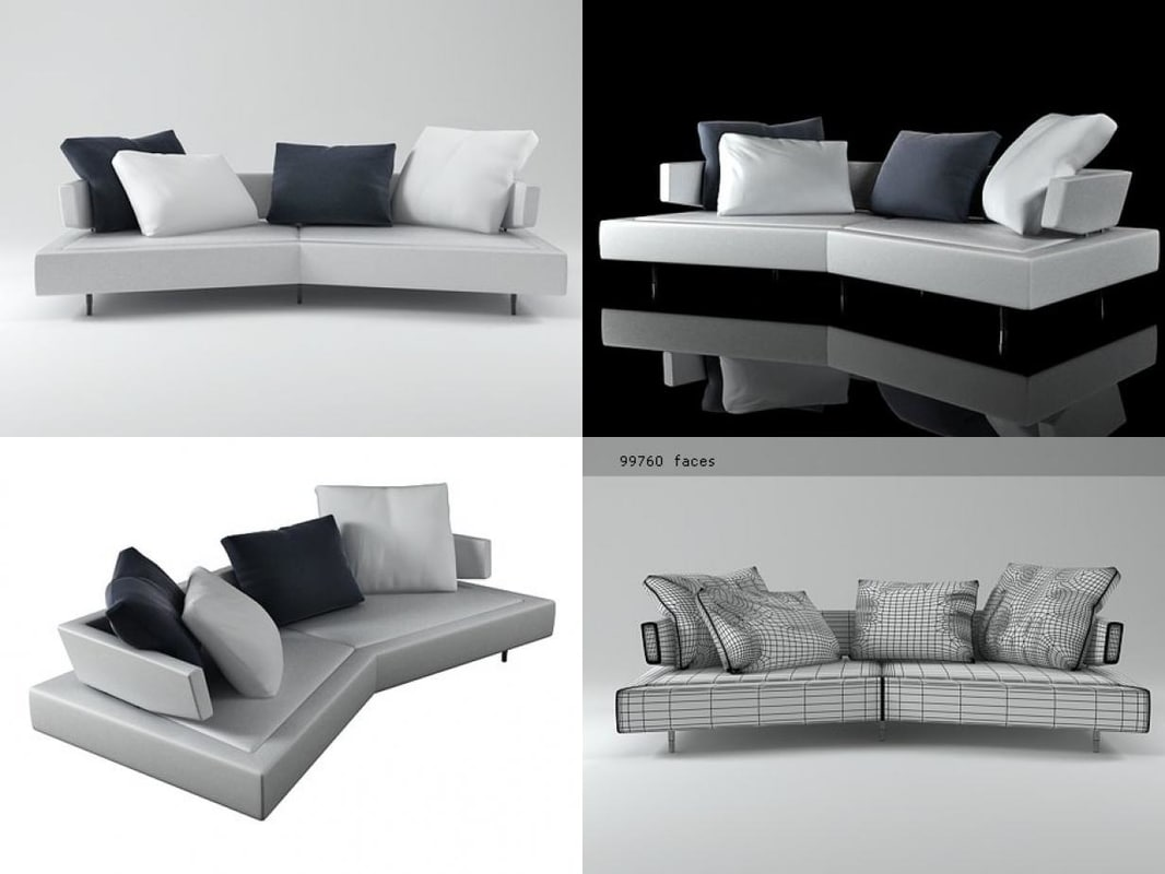 sofa arketipo 3D