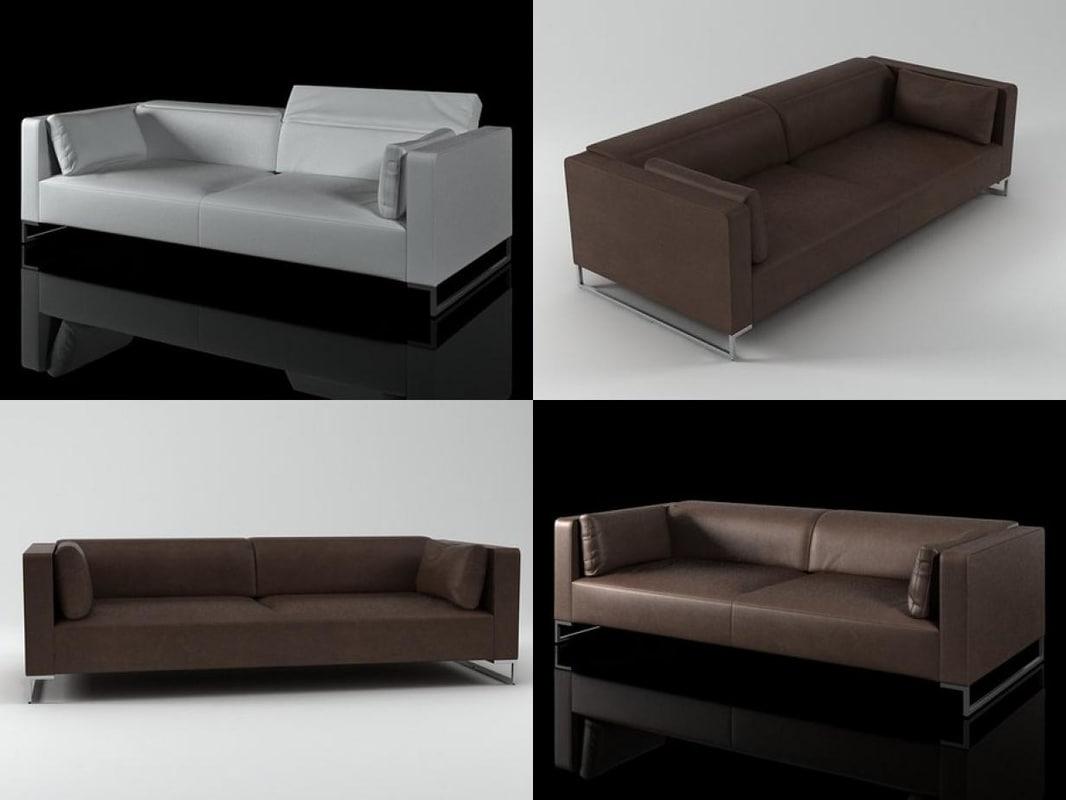 urbani 3-seat 3D model
