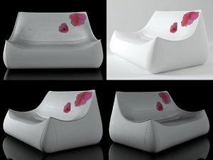 3D sake small settee
