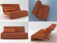 downtown loveseat 3D model