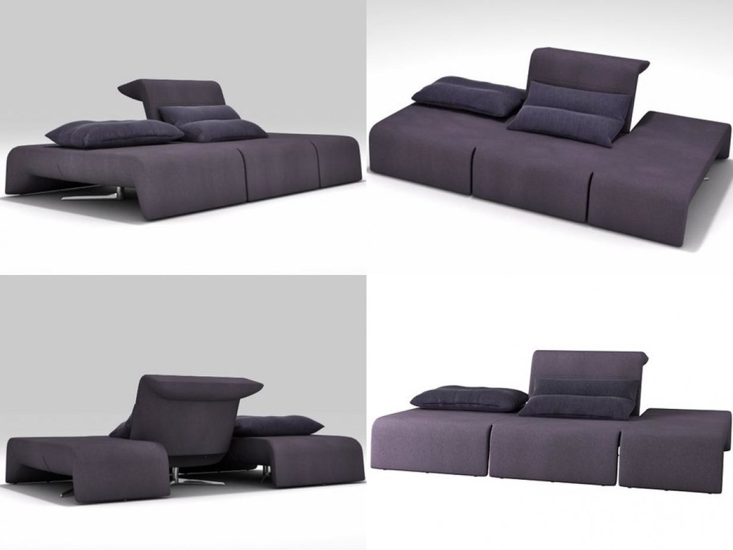 3D downtown large sofa