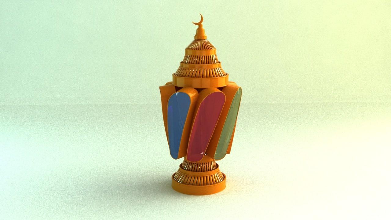 ramadan lantern 3D