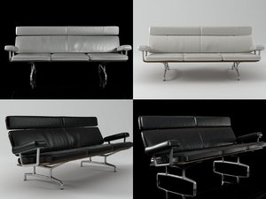 eames sofa 3-seater 3D model