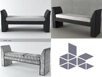 3D model gondola bench
