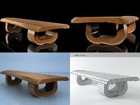 3D tube bench model