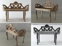 biltmore bench 3D model