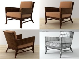 3D rawhide weave lounge chair