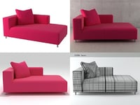 3D model opium small chaise