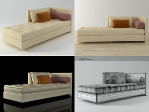 3D nomade large chaise model
