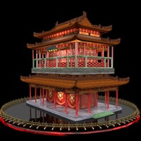 chinese ancient 3D model