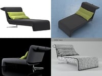 downtown chaise longue 3D