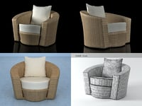 3D hemisphere lounge chair model