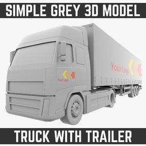 truck trailer model