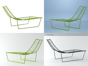 3D leaf lounge chair model