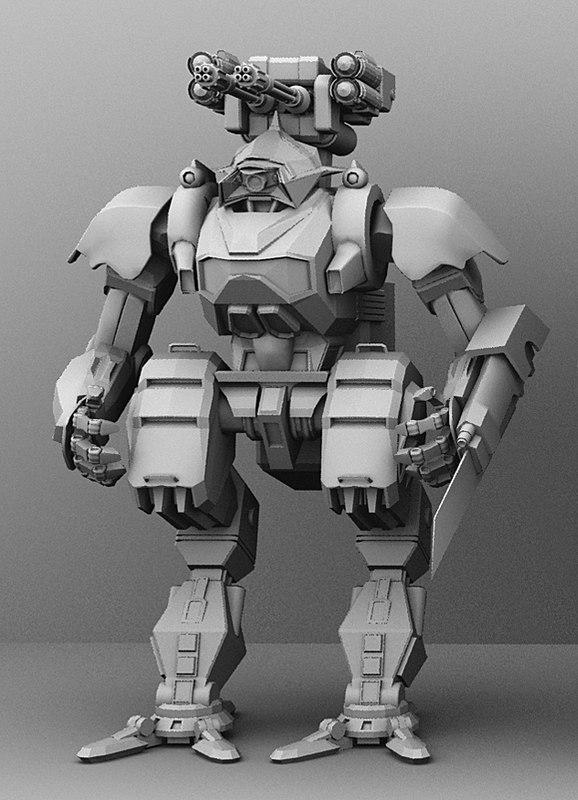3D armored transport model