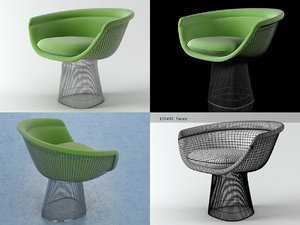 3D platner lounge chair