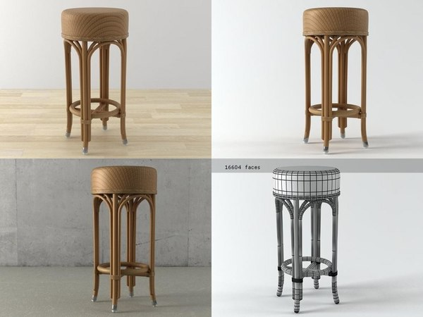 3D weston barstool