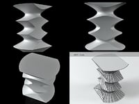 hocker vitra 3D model