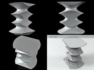 hocker vitra 3D model