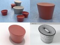 3D stones small seat model