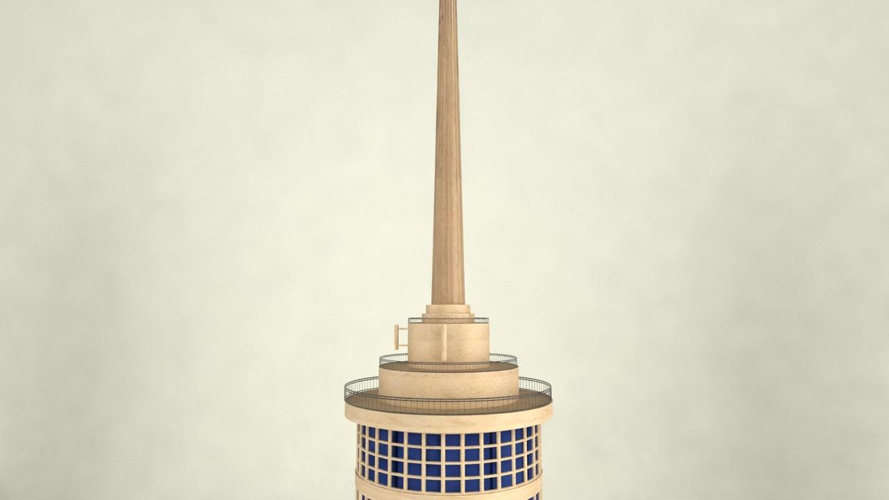 Cairo tower egypt model turbosquid 1185357 for Cairo mobel