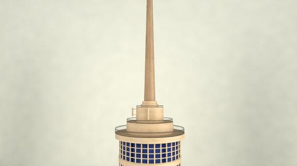 cairo tower egypt model