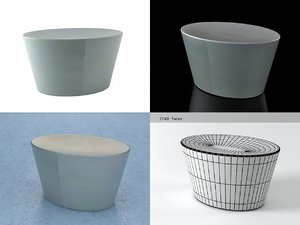 3D model stones large seat