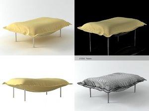 3D calin large footstool