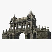gothic bridge 3D model
