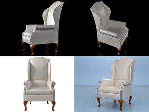 tall wing chair n 3D