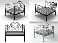 3D oversized iron chair n model