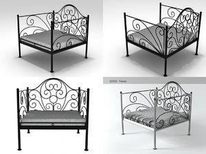 3D oversized iron chair n model