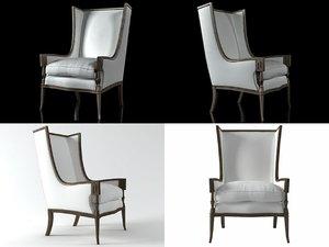 highback armchair 3D model