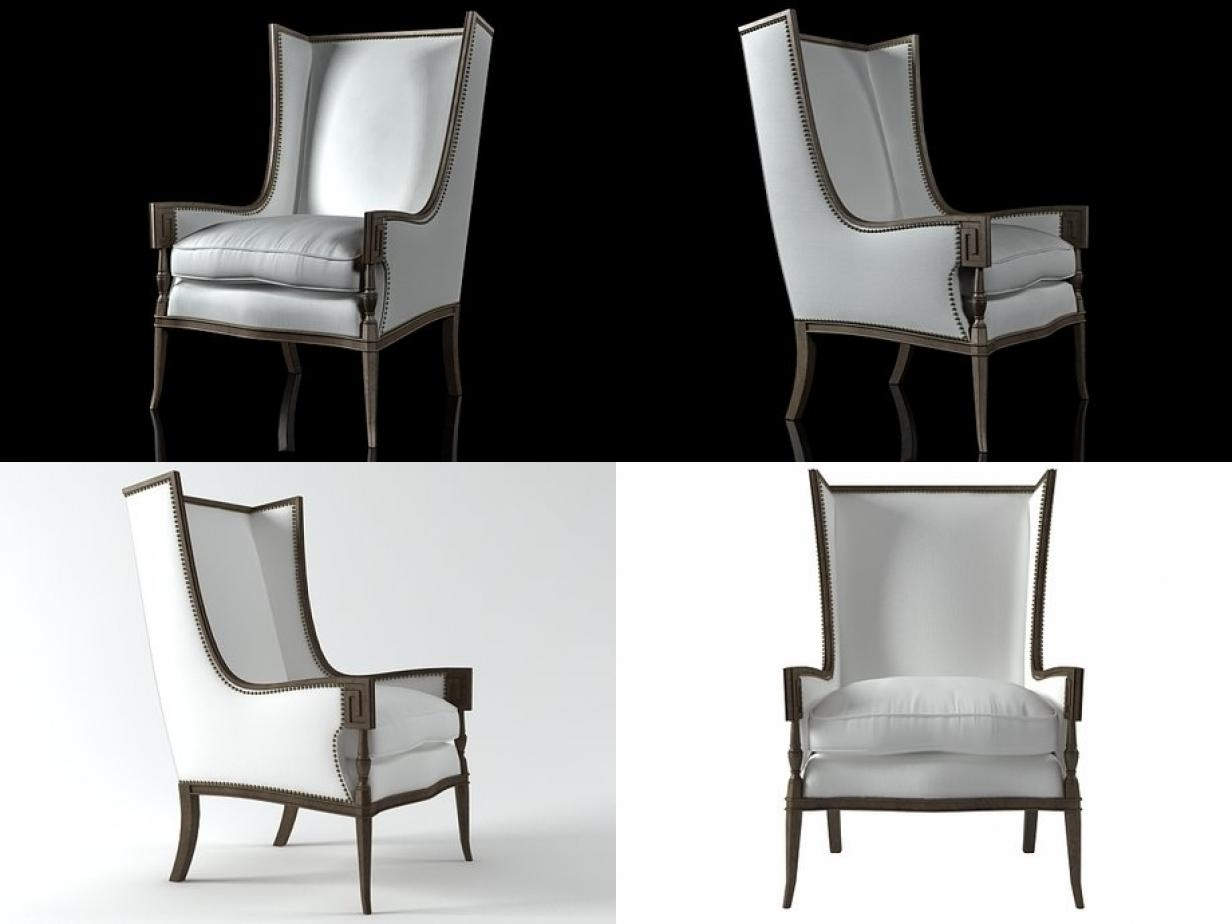 highback armchair 3d model