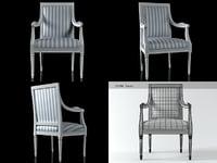 3D gustavian armchair n